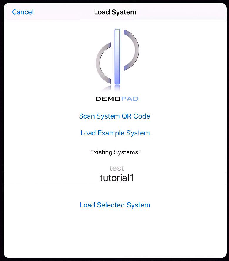 DemoPad Designer: Tutorial 1 - Loading a Project to the App
